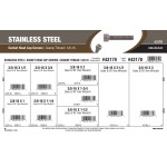 "Stainless Steel Socket-Head Cap Screws Assortment (3/8""-16 Thread)"