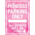 """Aluminum Princess Parking Only Sign 10"""" x 14"""""""
