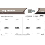 Spring Steel Snap Fasteners Assortment (Regular & Deep)