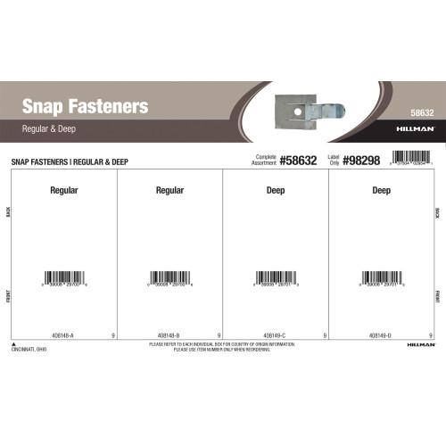 Spring Steel Snap Fasteners Assortment (Regular & Deep)