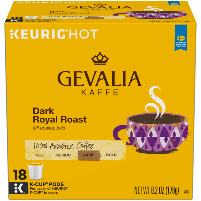 Gevalia Dark Royal Roast Coffee K-Cup Pods 18 count