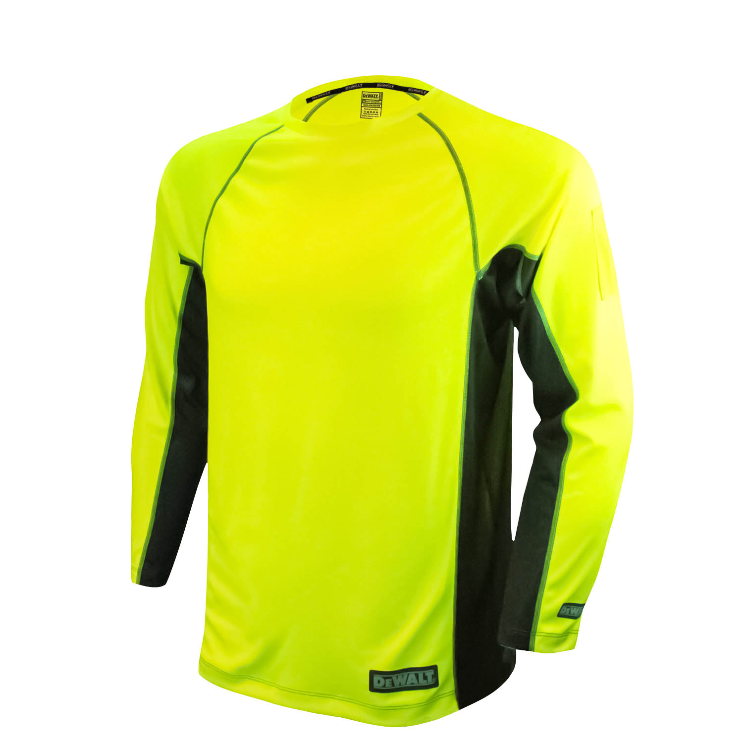 DEWALT Non-Rated Two Tone Performance Long Sleeve T-Shirt