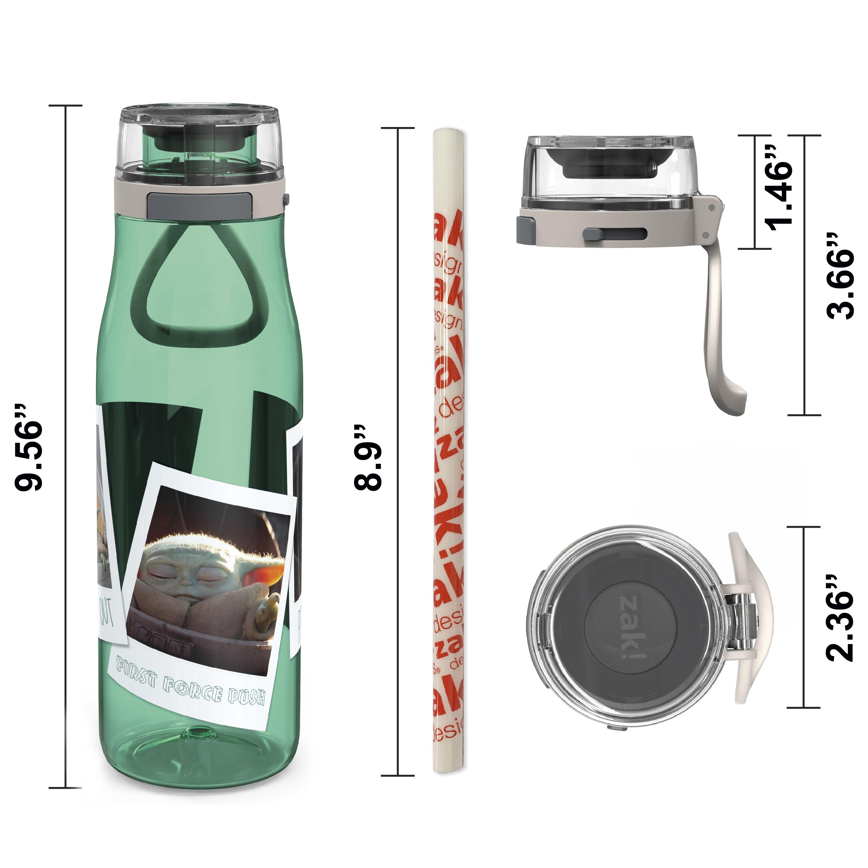 Star Wars: The Mandalorian 25 ounce Water Bottle, The Child, 3-piece set slideshow image 9