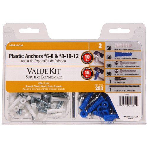 Ribbed Plastic Anchor Contractor Kit Color Combo