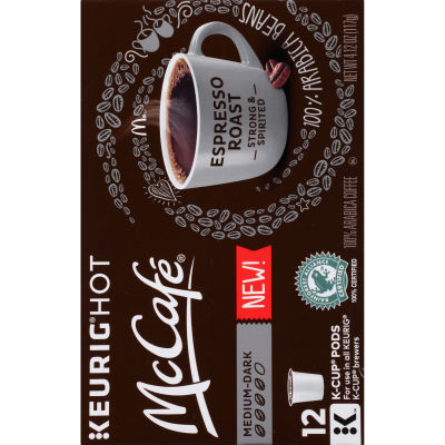 McCafe Espresso Coffee K-Cup Pods, 12 count