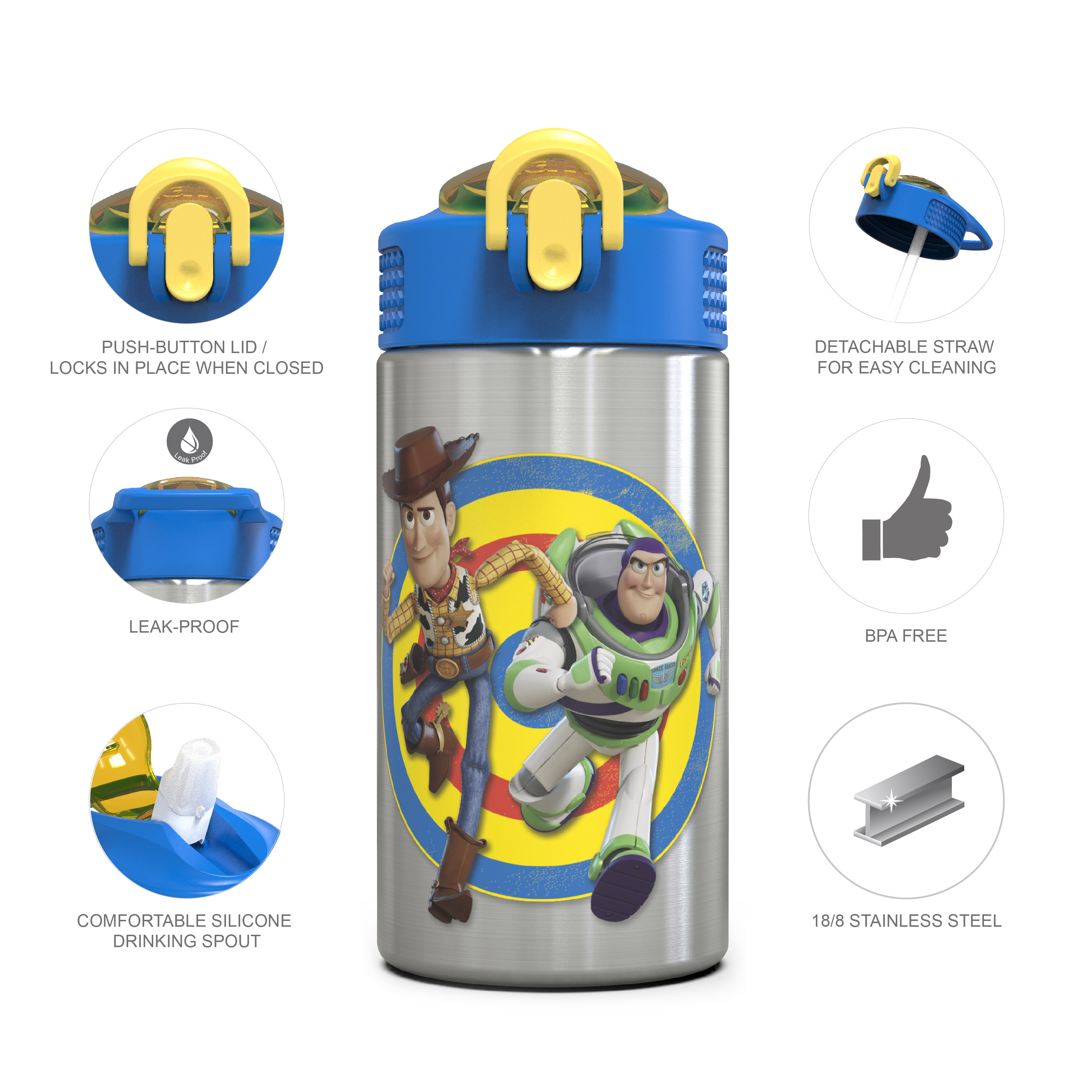 Toy Story 4 15.5 ounce Water Bottle, Buzz & Woody slideshow image 12