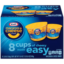 Kraft Easy Mac Original Flavor Macaroni & Cheese Dinner Dry 8 - 2.05 oz Boxes