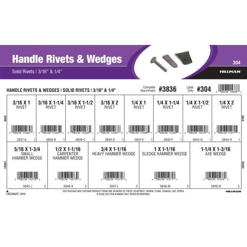 Handle Rivets & Wedges Assortment (3/16
