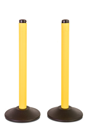 ChainBoss Stanchion - Yellow Filled with No Chain 1