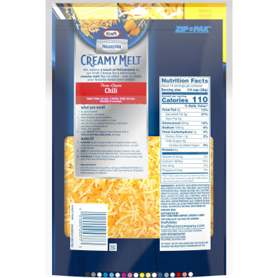 Kraft Three Cheese with a Touch of Philadelphia Shredded Natural Cheese 16 oz Pouch