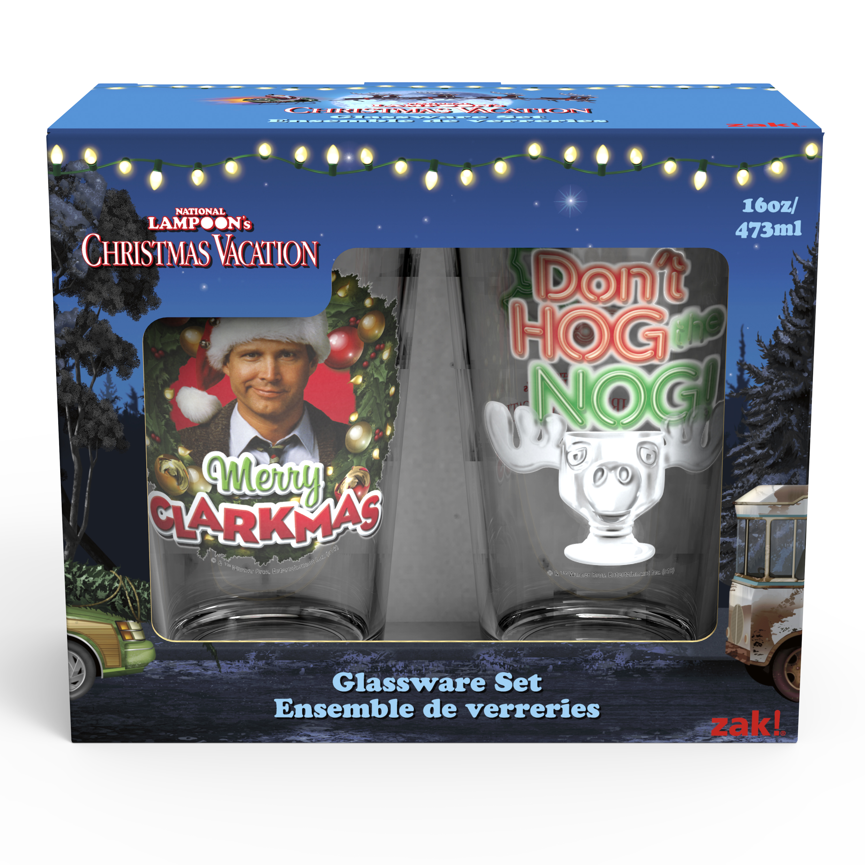 National Lampoon's Christmas Vacation 16 ounce Pint Glasses, Clark Griswold, 2-piece set slideshow image 5