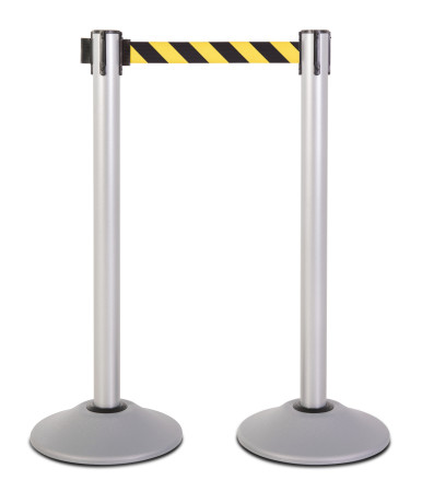 Premium Steel Stanchion - Silver with CYB belt 1