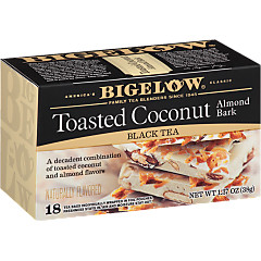 Toasted Coconut Almond Bark Black Tea - Case of 6 boxes- total of 108 teabags