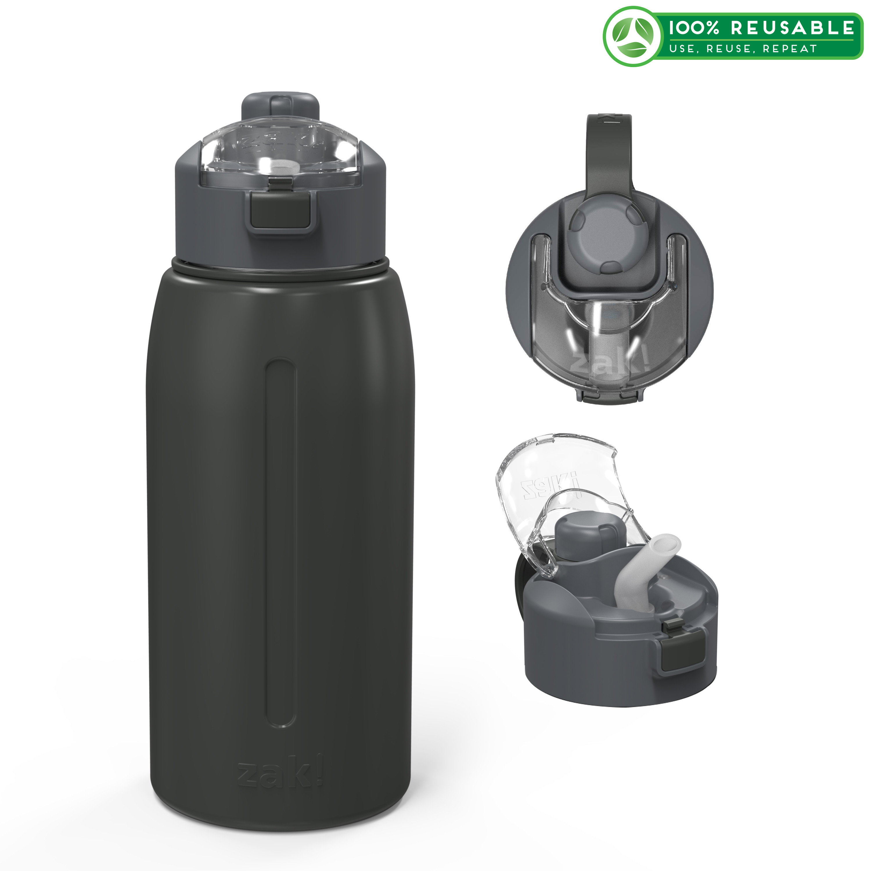 Genesis 32 ounce Vacuum Insulated Stainless Steel Tumbler, Charcoal slideshow image 1