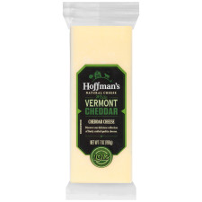 Hoffman's Natural White Vermont Cheddar Cheese 7 oz Wrapper