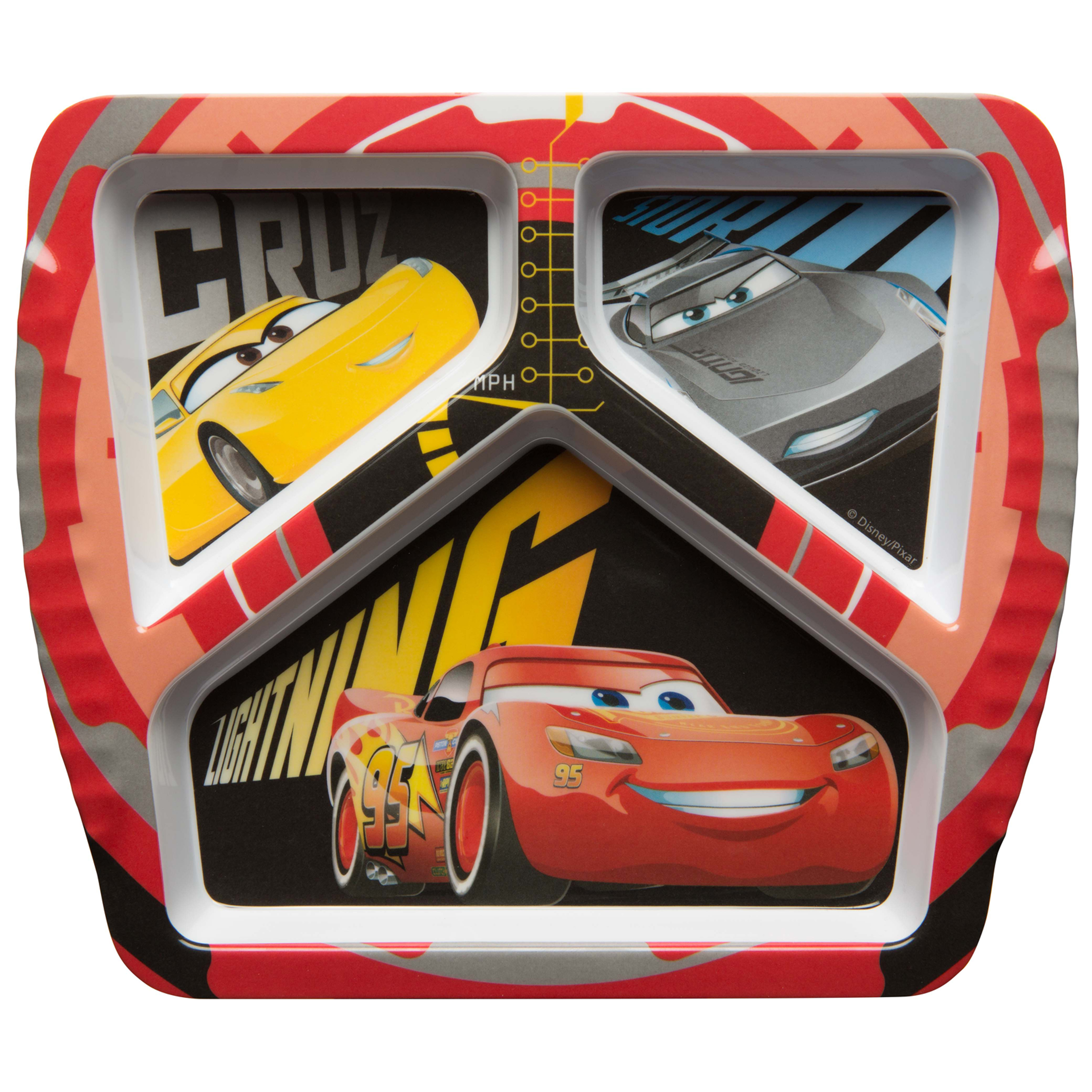 Disney and Pixar Kids Divided Plate, Cars 3 Movie slideshow image 1