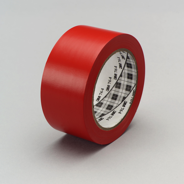 3M™ General Purpose Vinyl Tape 764, Red, 49 in x 36 yd, 5 mil, 3 rolls per case, Plastic Core