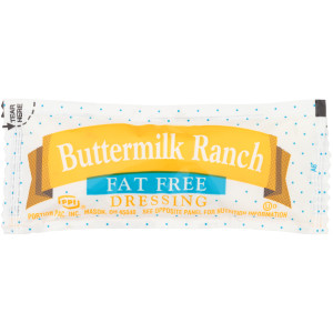 PPI Single Serve Fat Free Buttermilk Ranch Dressing, 12 gr. Pouches (Pack of 200) image
