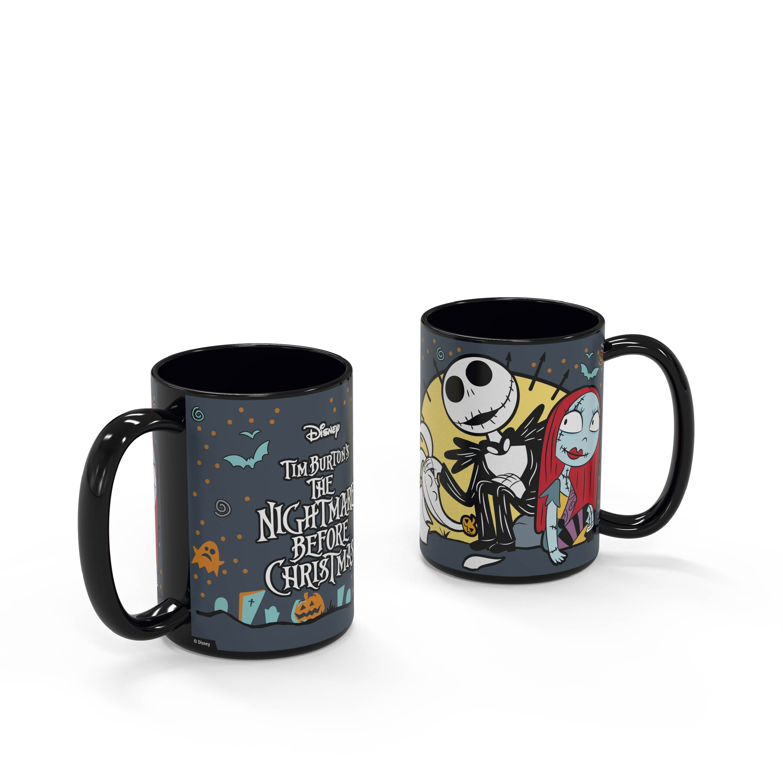 Disney The Nightmare Before Christmas 15 ounce Coffee Mug and Spoon, Jack the Pumpkin King & Sally slideshow image 7