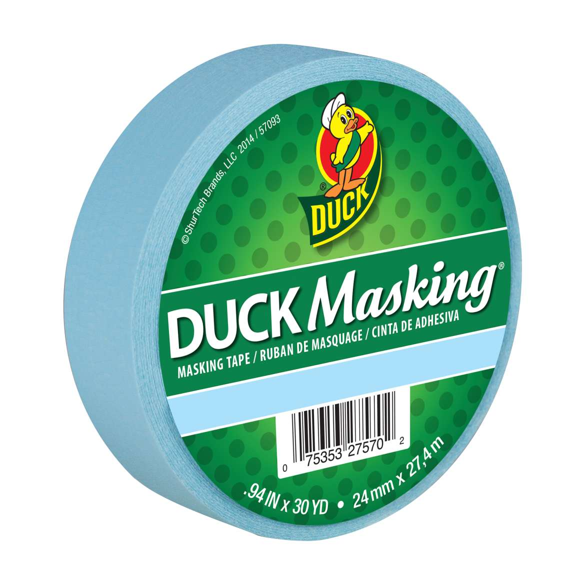 Duck Masking® Color Masking Tape - Blue, .94 in. x 30 yd. Image