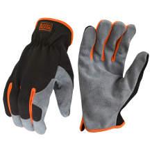 BLACK+DECKER BD526 Performance Leather Hybrid Work Glove