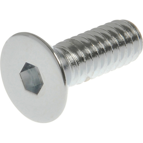Chrome Flat-Head Metric Socket Cap Screw (M12-1.75 x 30mm)