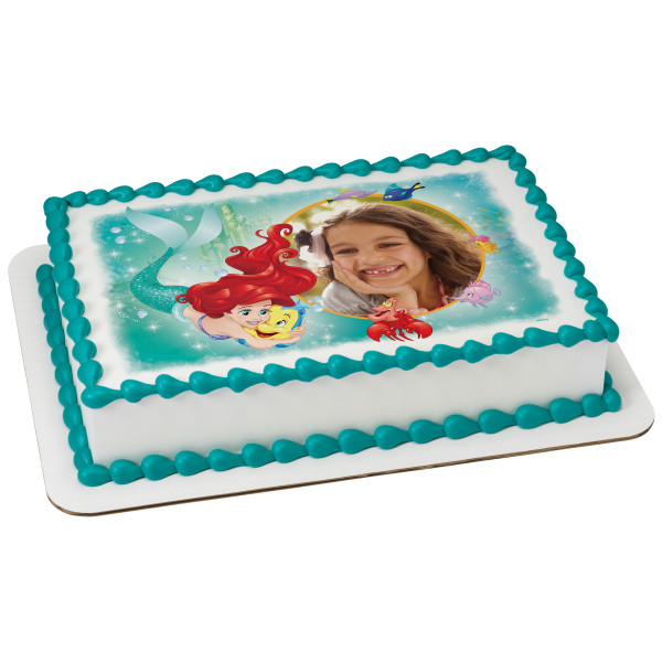 Disney Princess The Little Mermaid Ariel Besties PhotoCake® Edible Image® Frame