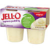 Jell-O Ready to Eat Tapioca Pudding Snack, 15.5 oz Sleeve (4 Cups)
