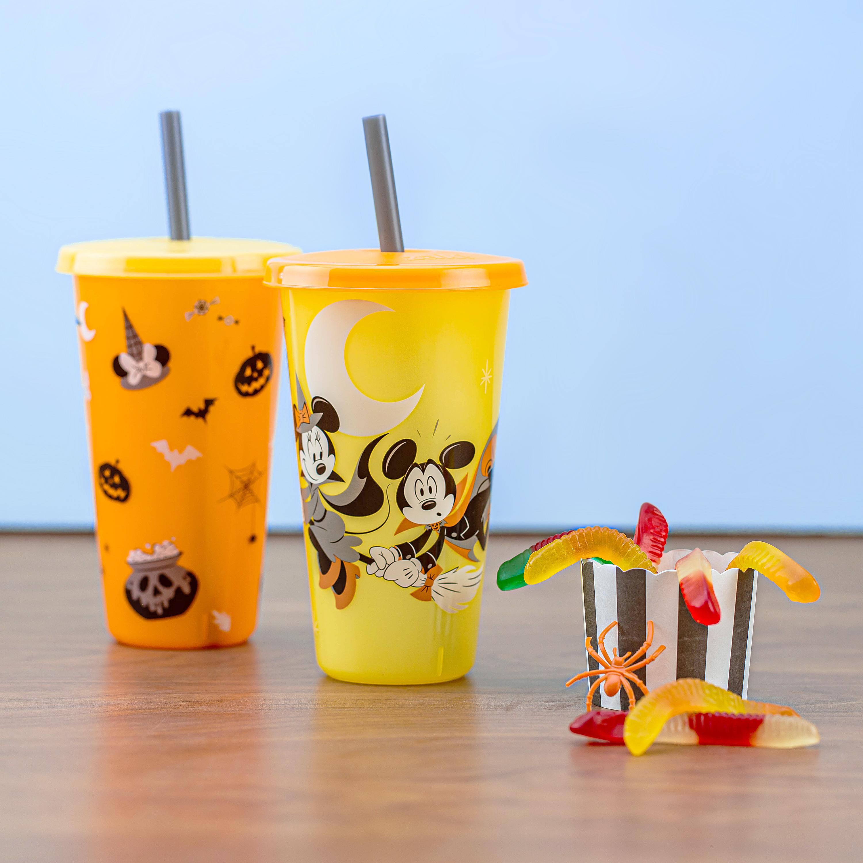 Disney 24 ounce Reusable Plastic Kids Tumbler, Mickey Mouse, 4-piece set slideshow image 5