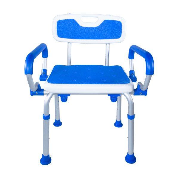 7107 Foam Padded Bath Safety Seat With Back and Swing Away Arms