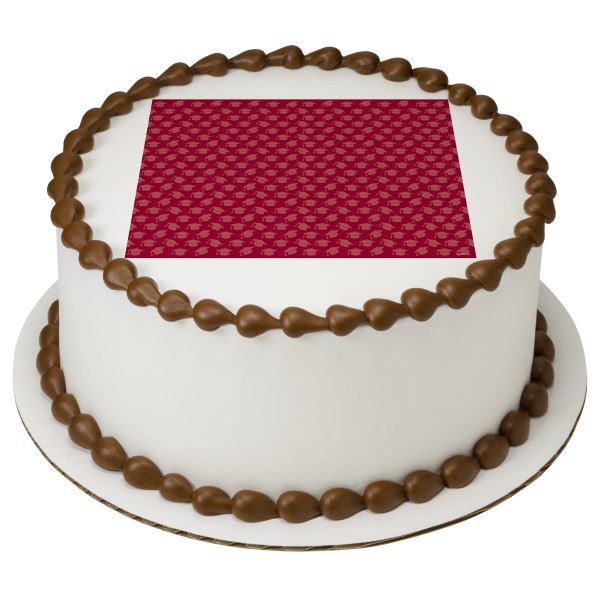 Burgundy Grad Hats PhotoCake® Edible Image®