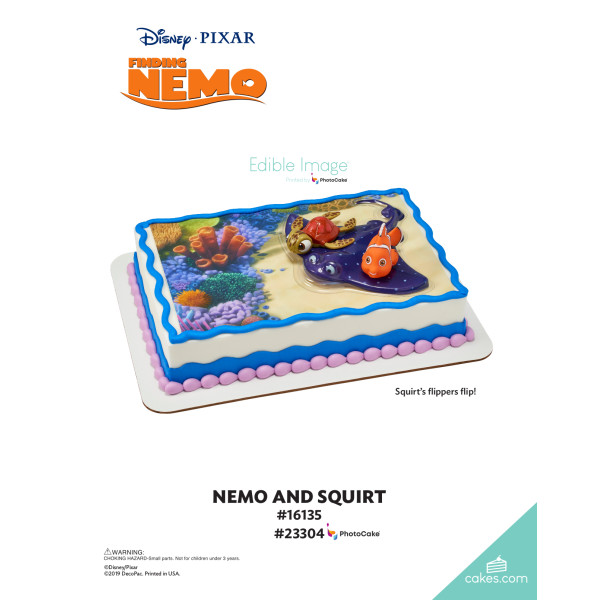 Finding Nemo Nemo and Squirt DecoSet® The Magic of Cakes® Page