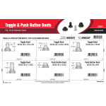 """Toggle & Push Button Boots Assortment (Fits 15/32"""" Dia. Neck)"""