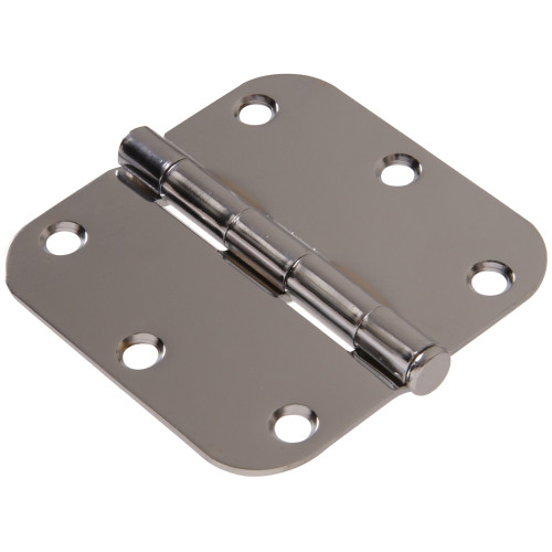 Hardware Essentials Residential Door Hinges Removable Pin Chrome 3-1/2
