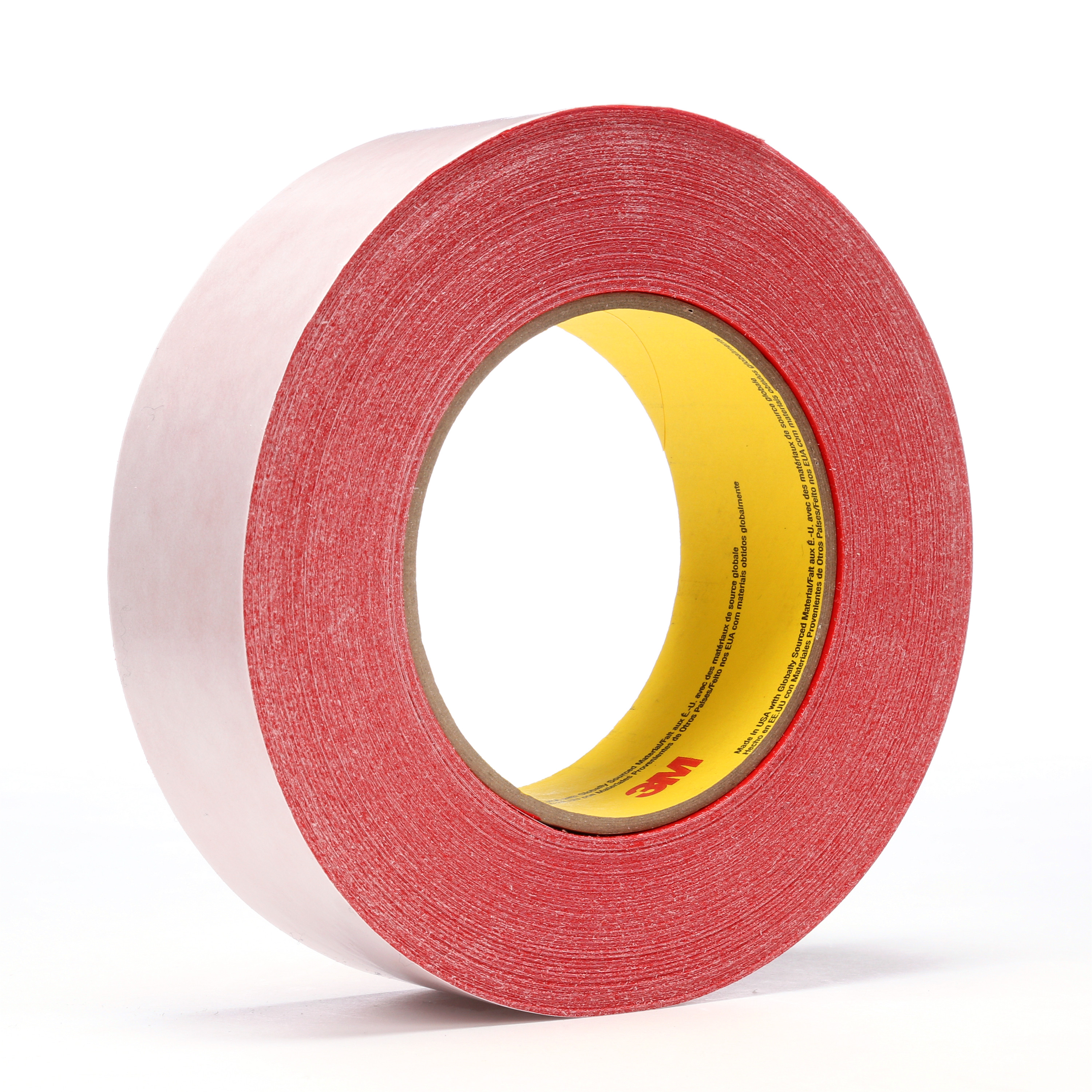 3M™ Double Coated Tape 9737R, Red, 36 mm x 55 m, 3.5 mil, 32 rolls per case