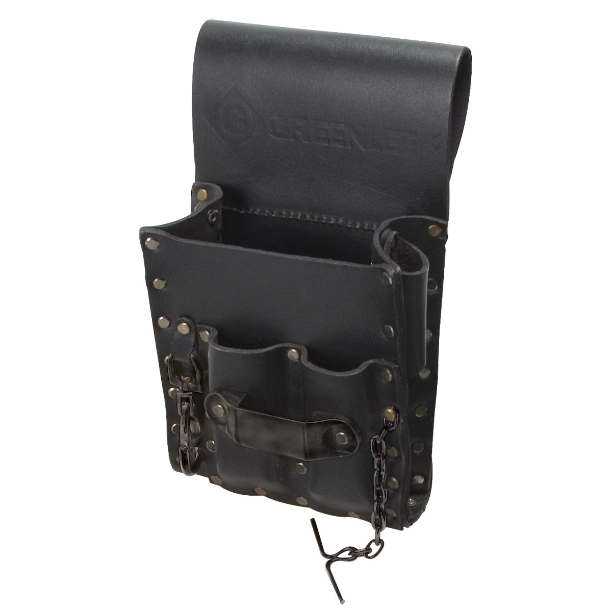 GRE 0258-13 5-POCKET LEATHER POUCH