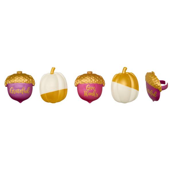 Golden Harvest Cupcake Rings