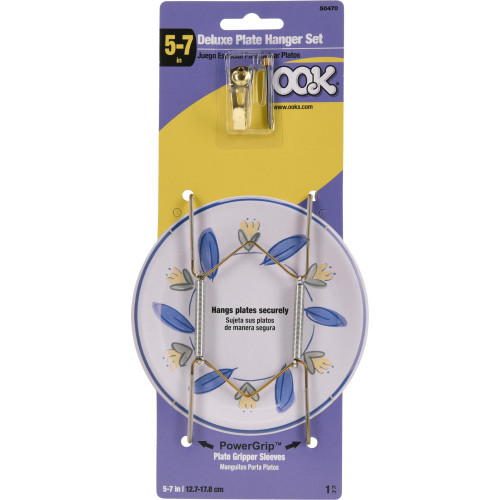 OOK Professional Deluxe Single 5 Inch-7 Inch Plate Hanger 30lb