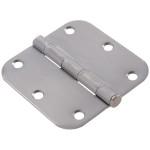 """Hardware Essentials 5/8"""" Round Corner Satin Chrome Door Hinges (3-1/2"""")"""