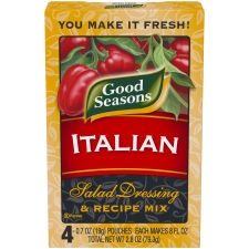 Good Seasons Italian All Natural Salad Dressing & Recipe Mix, 4 - 0.7 oz Packets