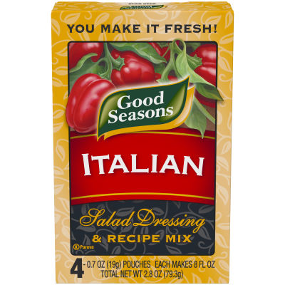 Good Seasons Italian Dry Salad Dressing and Recipe Mix 0.7oz 4 pack
