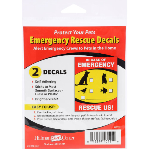 In Case of Emergency Pet Rescue Sign (4