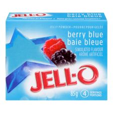 Jell-O Berry Blue Jelly Powder, Gelatin Mix