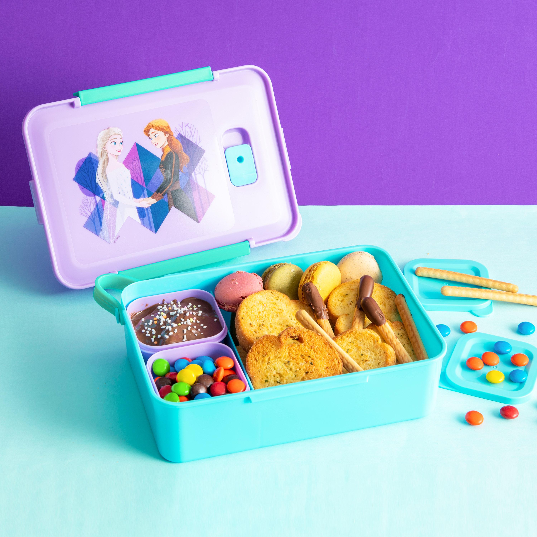 Disney Frozen 2 Movie Reusable Divided Bento Box, Elsa and Anna, 3-piece set slideshow image 3