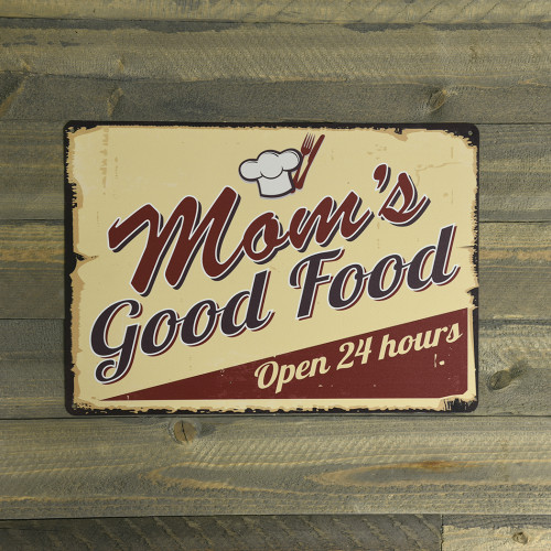 Mom's Good Food Novelty Sign (10