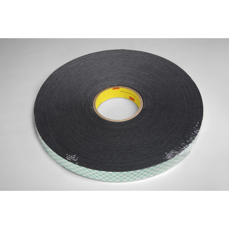 3M™ Double Coated Urethane Foam Tape 4052, Black, 1 in x 72 yd, 31 mil, 9 rolls per case