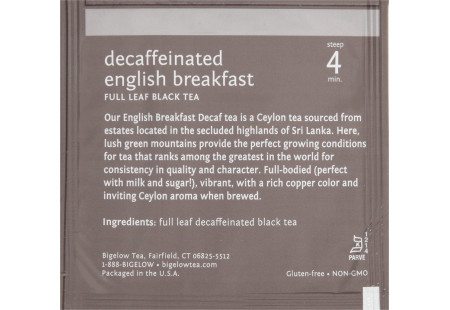 steep Café English Breakfast Decaf - Box of 50 pyramid tea bags