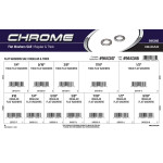 Chrome SAE Regular & Thick Flat Washers Assortment