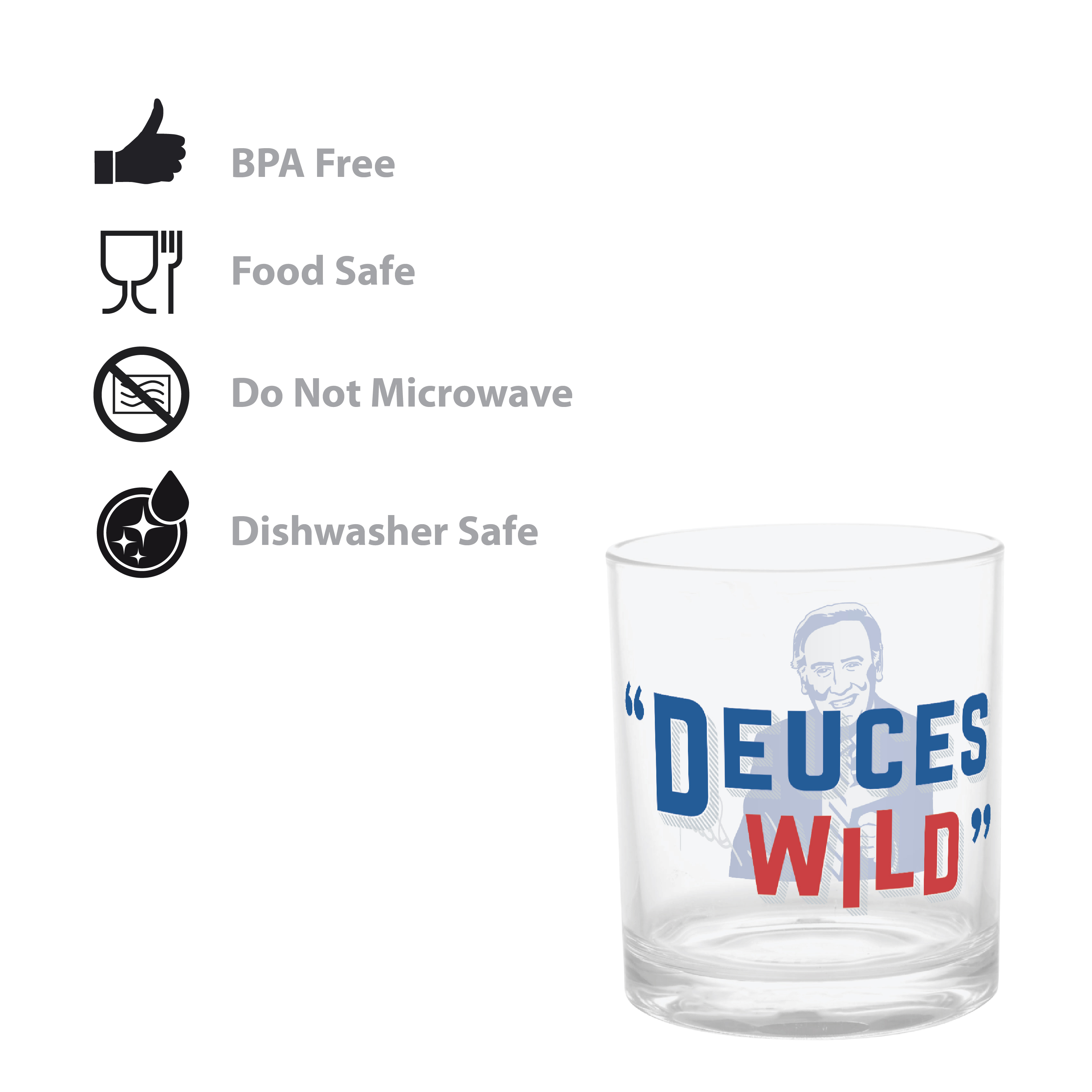 Zak Hydration 14 ounce Plastic Double Old-fashion Glass, Vin Scully, 4-piece set slideshow image 2