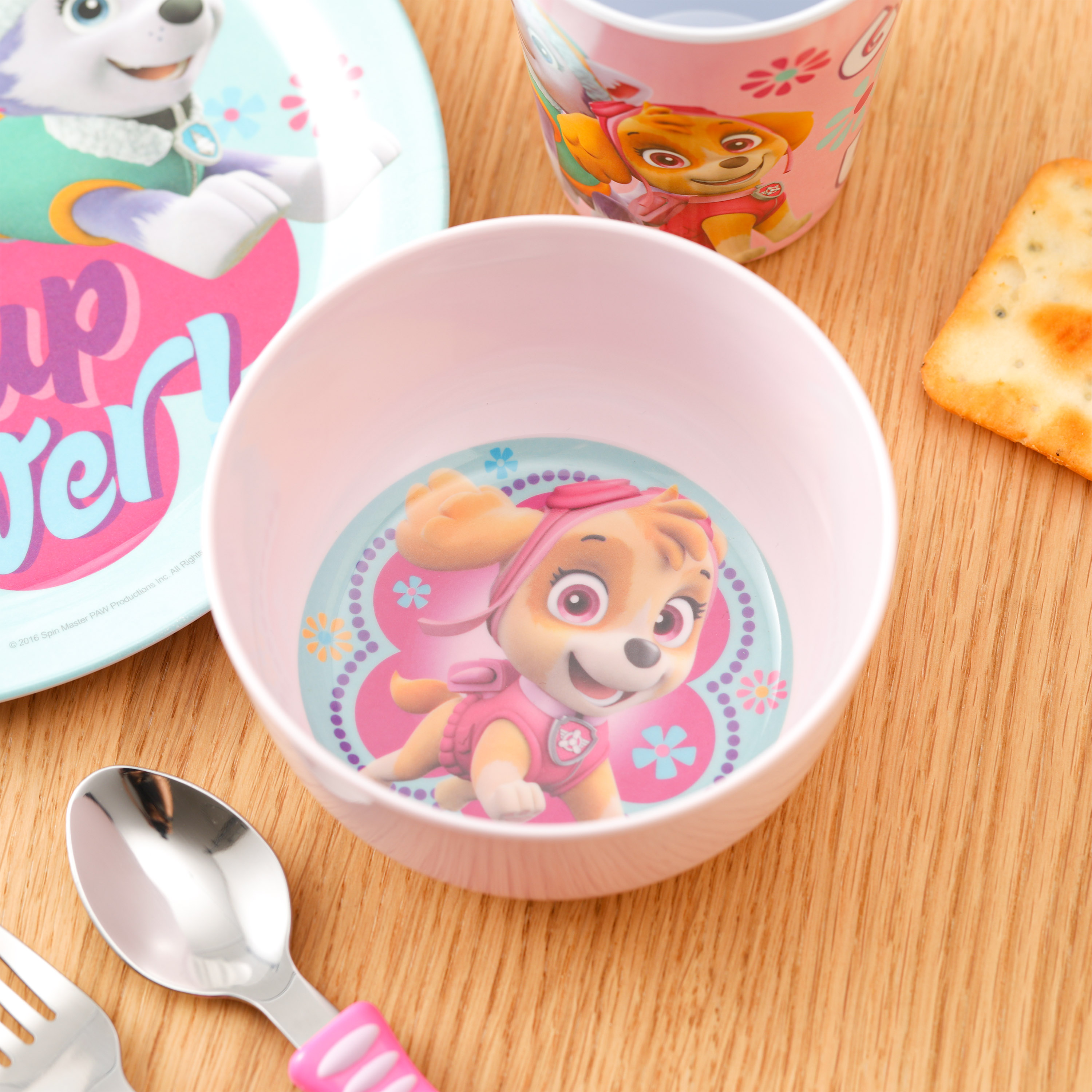 Paw Patrol Dinnerware Set, Skye and Everest, 5-piece set slideshow image 5
